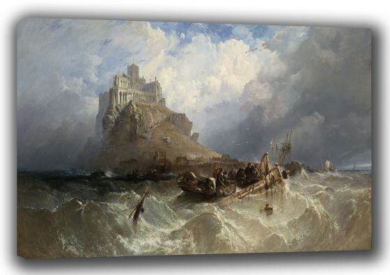 Stanfield, (William) Clarkson Frederick: Mount St (Saint) Michael, Cornwall, England. Marine Fine Art Canvas. Sizes: A3/A2/A1 (003473)
